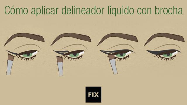 Cómo aplicar delineador de ojos líquido con brocha | ecogreenlove
